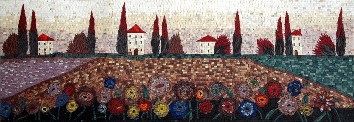 Artistic Colorful Scene Mosaic