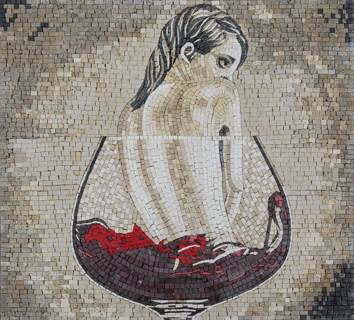 Mosaic Art - The Lady In Red