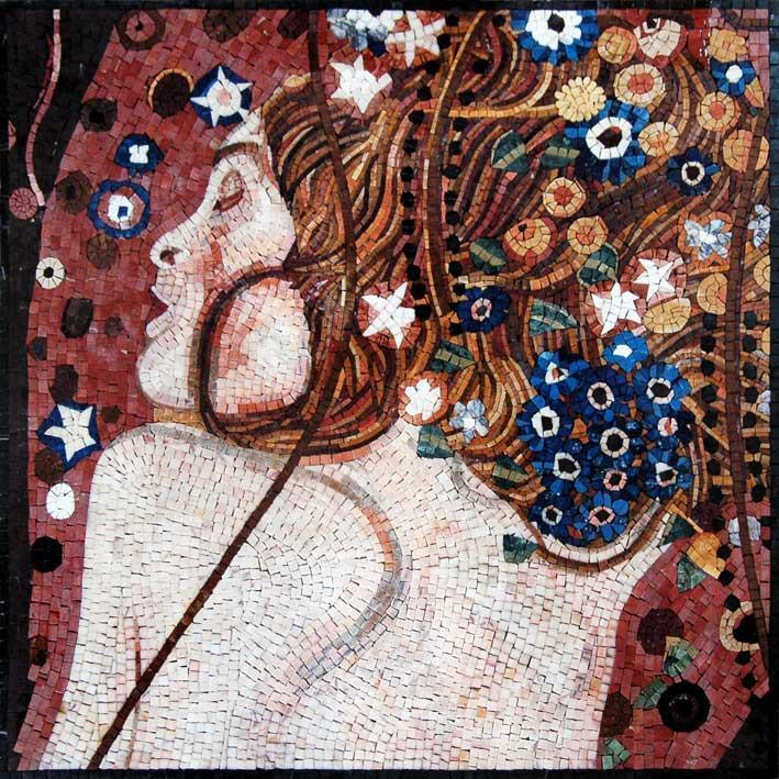 "Gustav Klimt Sea Serpent"" - Mosaic Reproduction"""