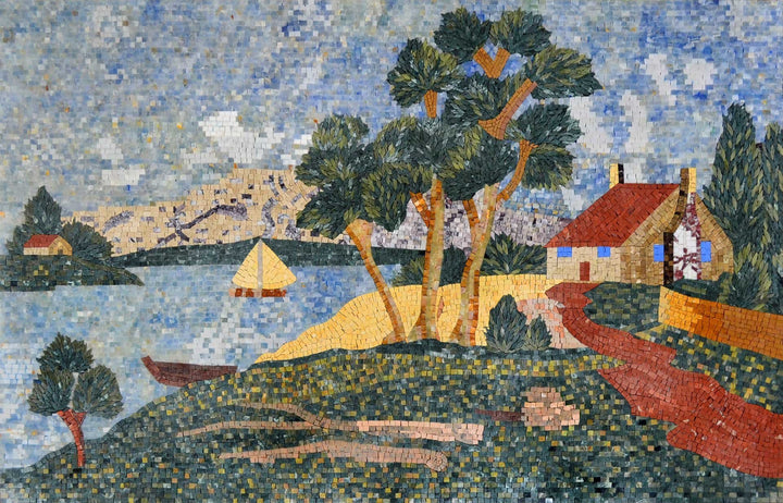 Landscape of beach house Mosaic