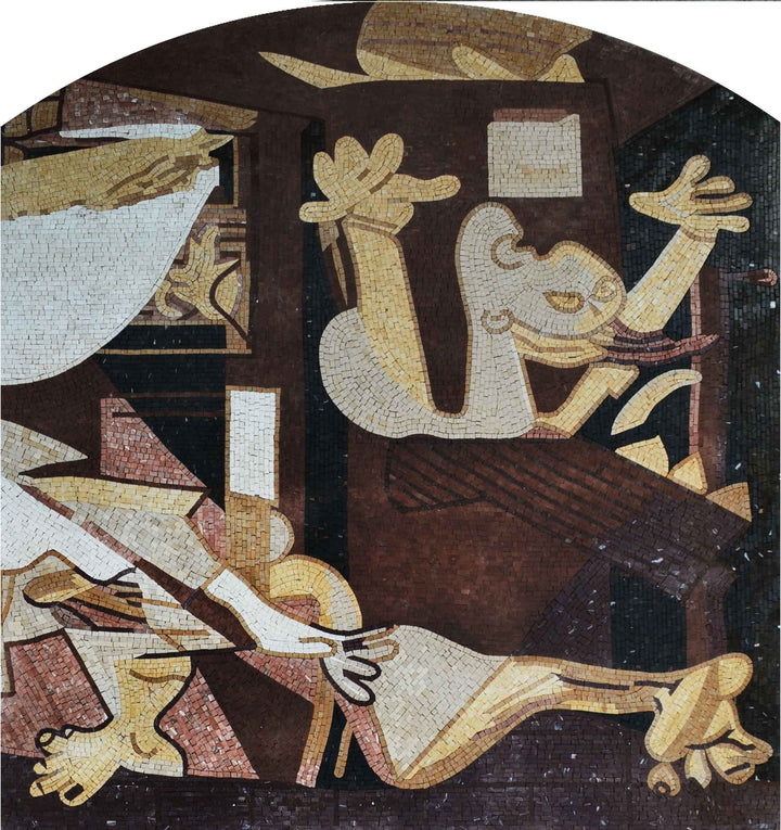 "Pablo Picasso Guernica"" - Mosaic Art Reproduction """
