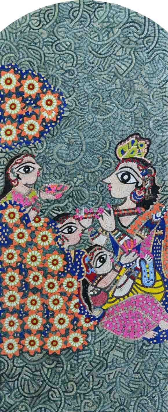"Bharti Dayal Harmony"" - Mosaic Art Reproduction"""