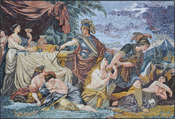 Louis-Jean-Francois Lagreneee Artwork - Mosaic Reproduction