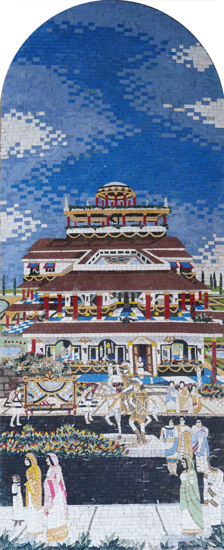 Ancient Town Architecture - Mosaic Art