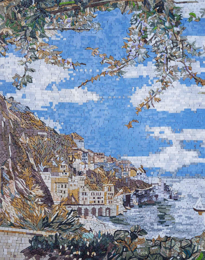 Coastal Cliff Scenery II - Mosaic Art