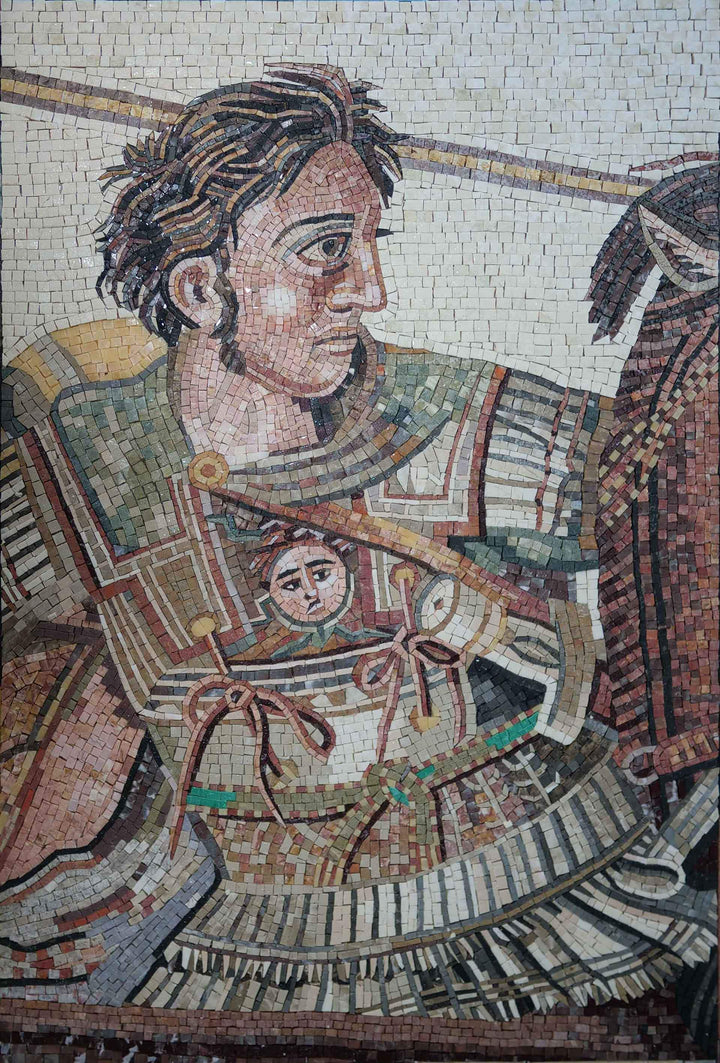 Alexander the Great Mosaic Art Reproduction