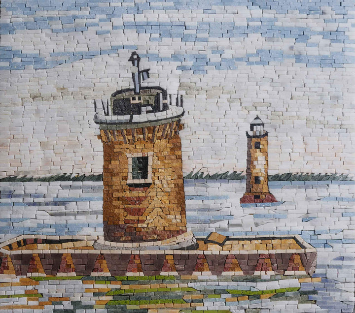 Mosaic Scenery Artwork - The Lighthouse
