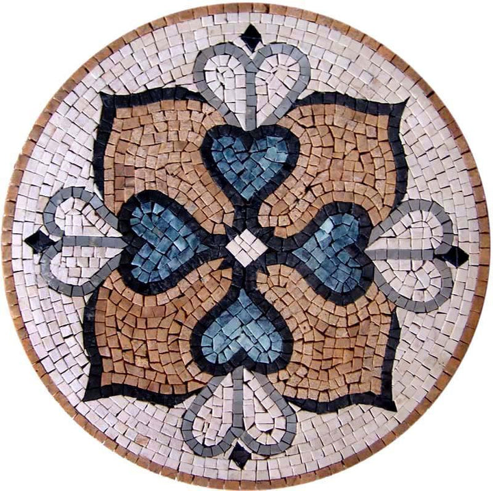 4Petals Flower Geometric Medallion Mosaic