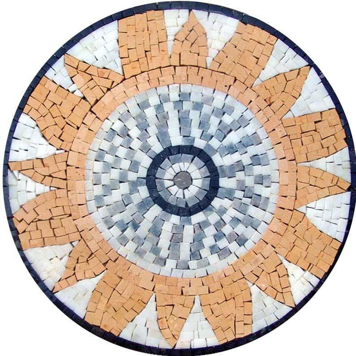 Mosaic Garden Art Medallion - Sunshine