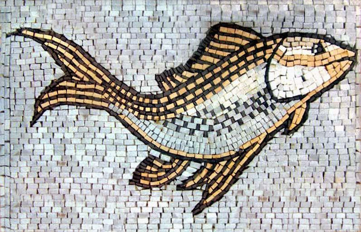 Aquatic Swimming Fish Mosaic