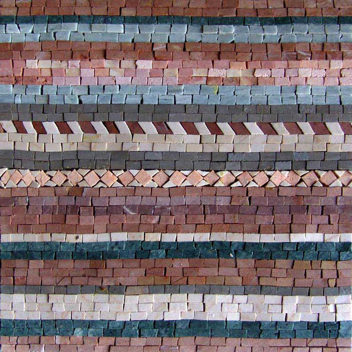 Hand-cut Mosaic Tile Art - Stitches