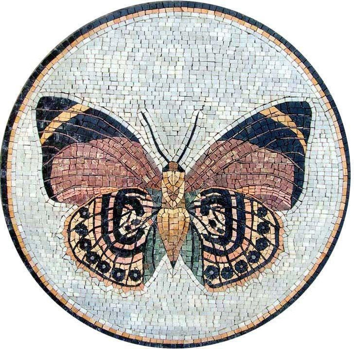 Mosaic Medallion Art - Butterfly