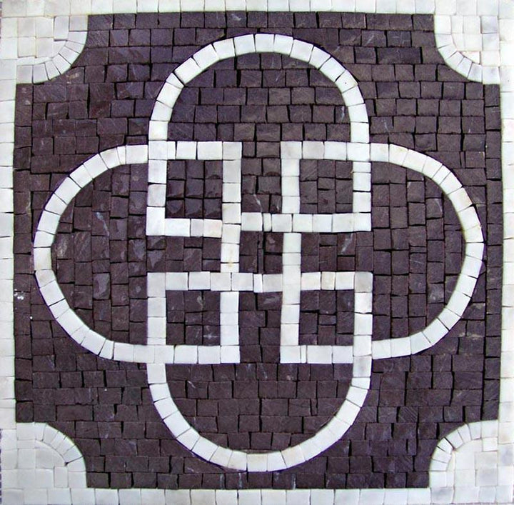 Geometric Square - Sabratha Purple Mosaic