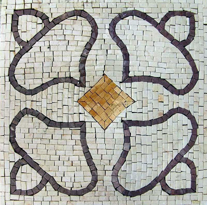 Square Mosaic Art Tile - Bella
