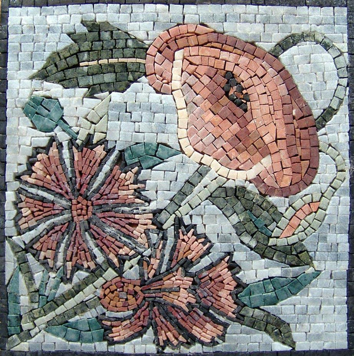 Mosaic Art - Floral Button