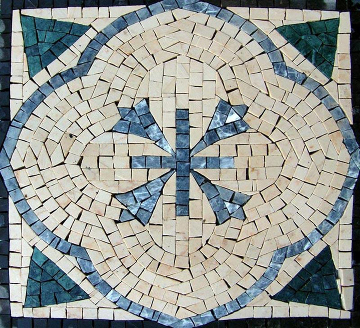 Handcut Stone Art Accent - Blissful Mosaic