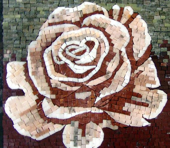 Mosaic Tile Art - The Rosa Flora