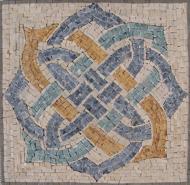 Roman Mosaic Accent Tile- Mercia