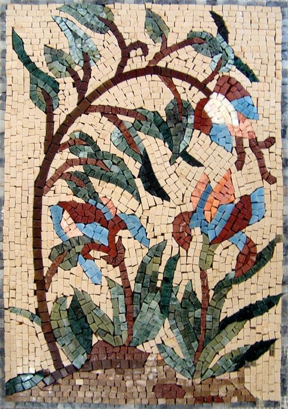 Mosaic Wall Art - Abstract Statice