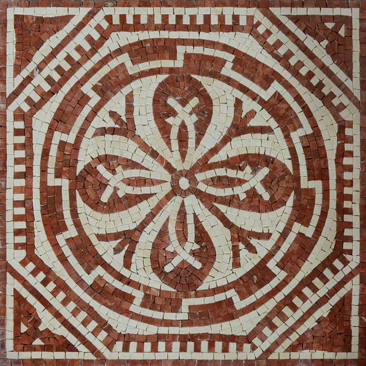 Geometric Flower Mosaic - Jupiter Brick
