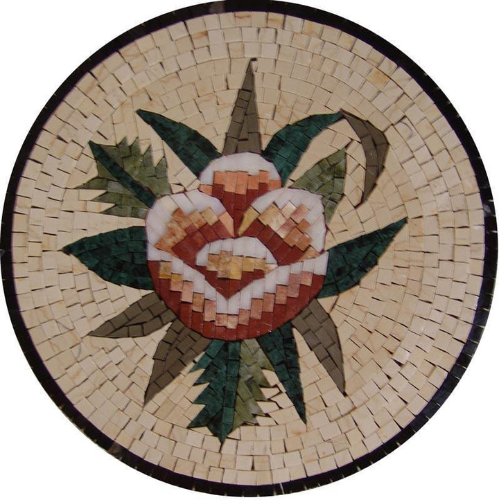 Medallion Mosaic Art - Desert Rose