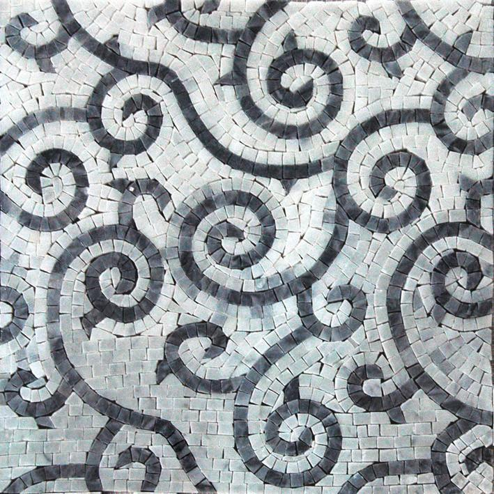 Curvy lines Accent Stone Art Mosaic Hand Made
