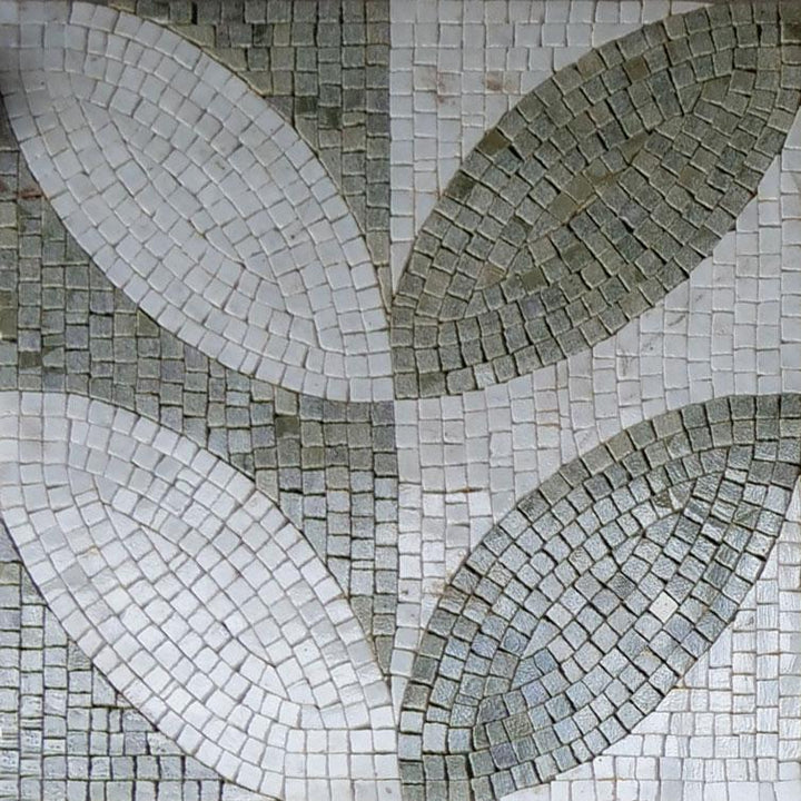 Green And White Accent Mosaic Design