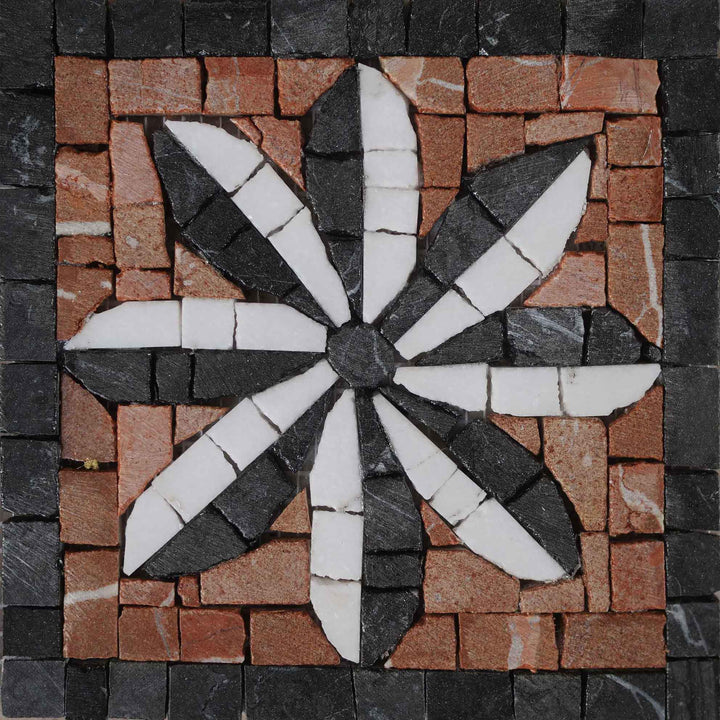 Mosaic Flower Design - Mime