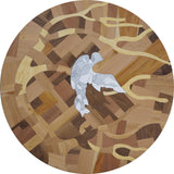Dove by the Tree - Wooden Mosaic Table