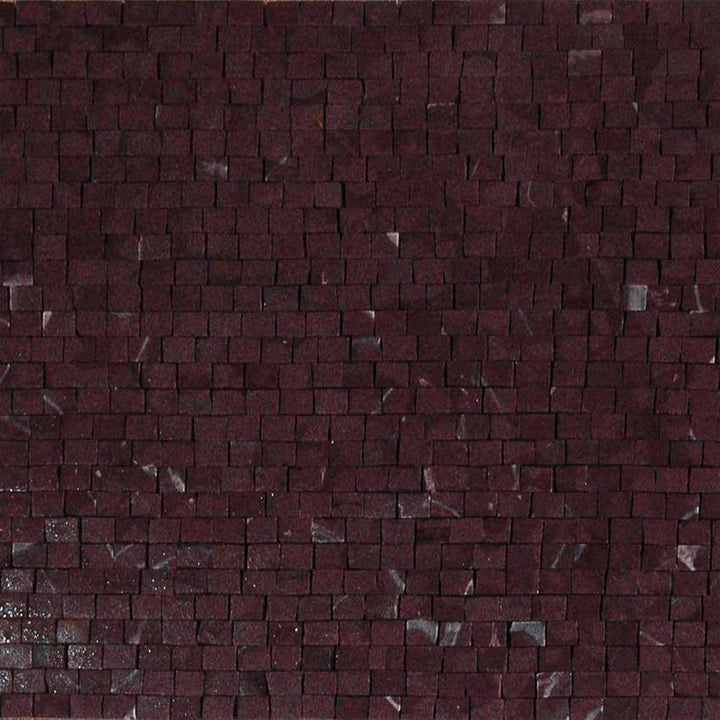 Mosaic Marble Sheet-Rose Cherry