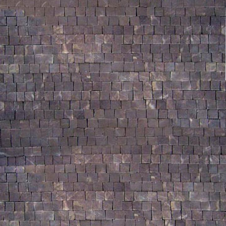 Mosaic Marble Sheet-Turkey Brown