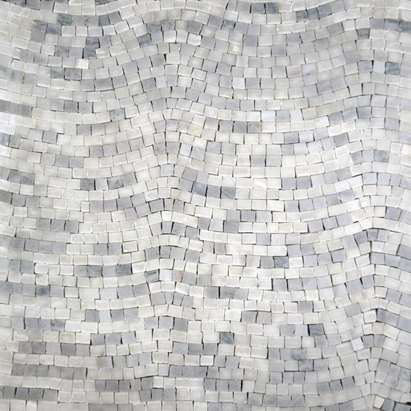 Accent Mosaic Sheet-Achromatic Gray
