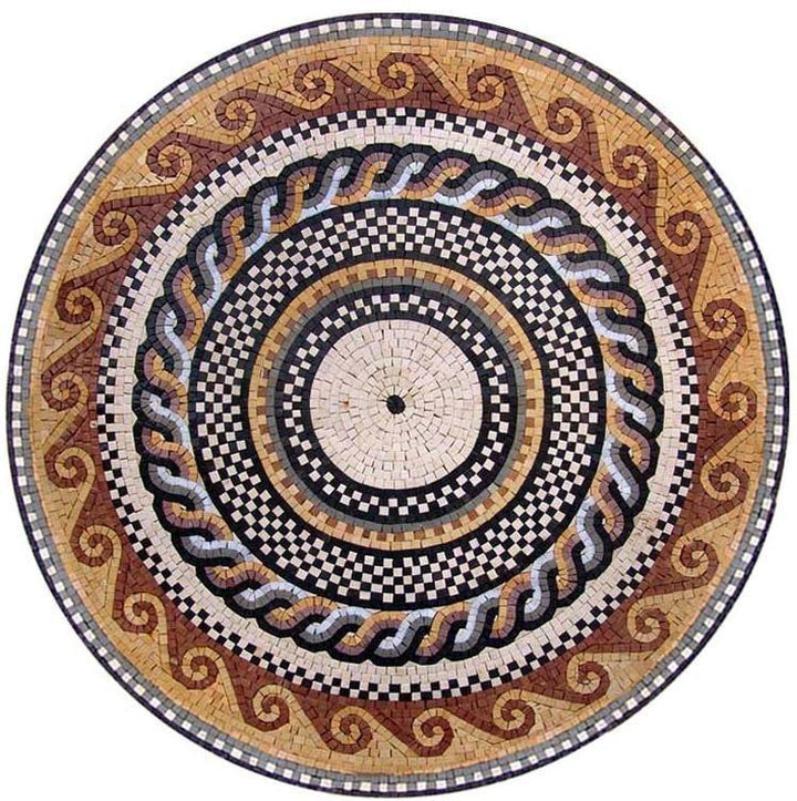 Roman Mosaic Art Medallion - Horatio II