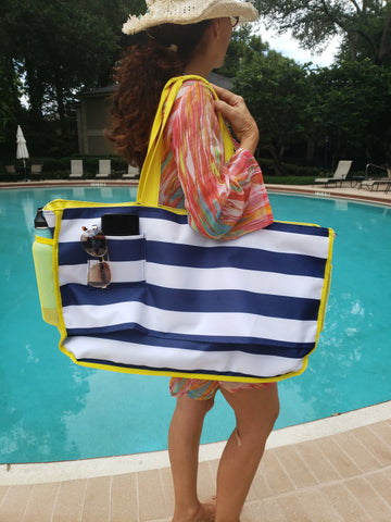 "Large Size & Lightweight - Dimensions with L25.5"" x H15"" x W5"" it can easily carry your beach towels and a whole lot more!"