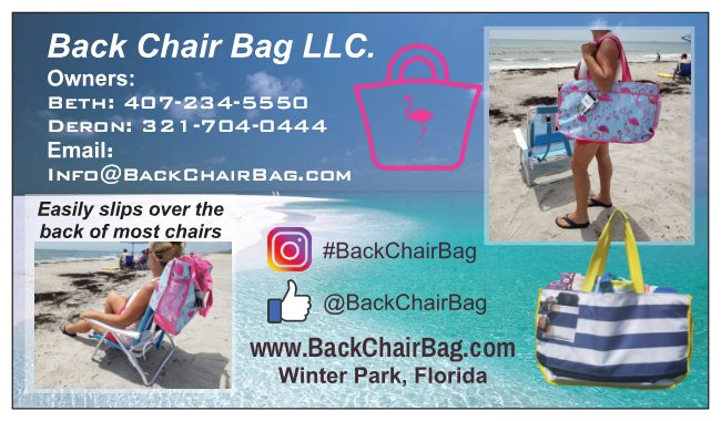 Back Chair Bag business Card