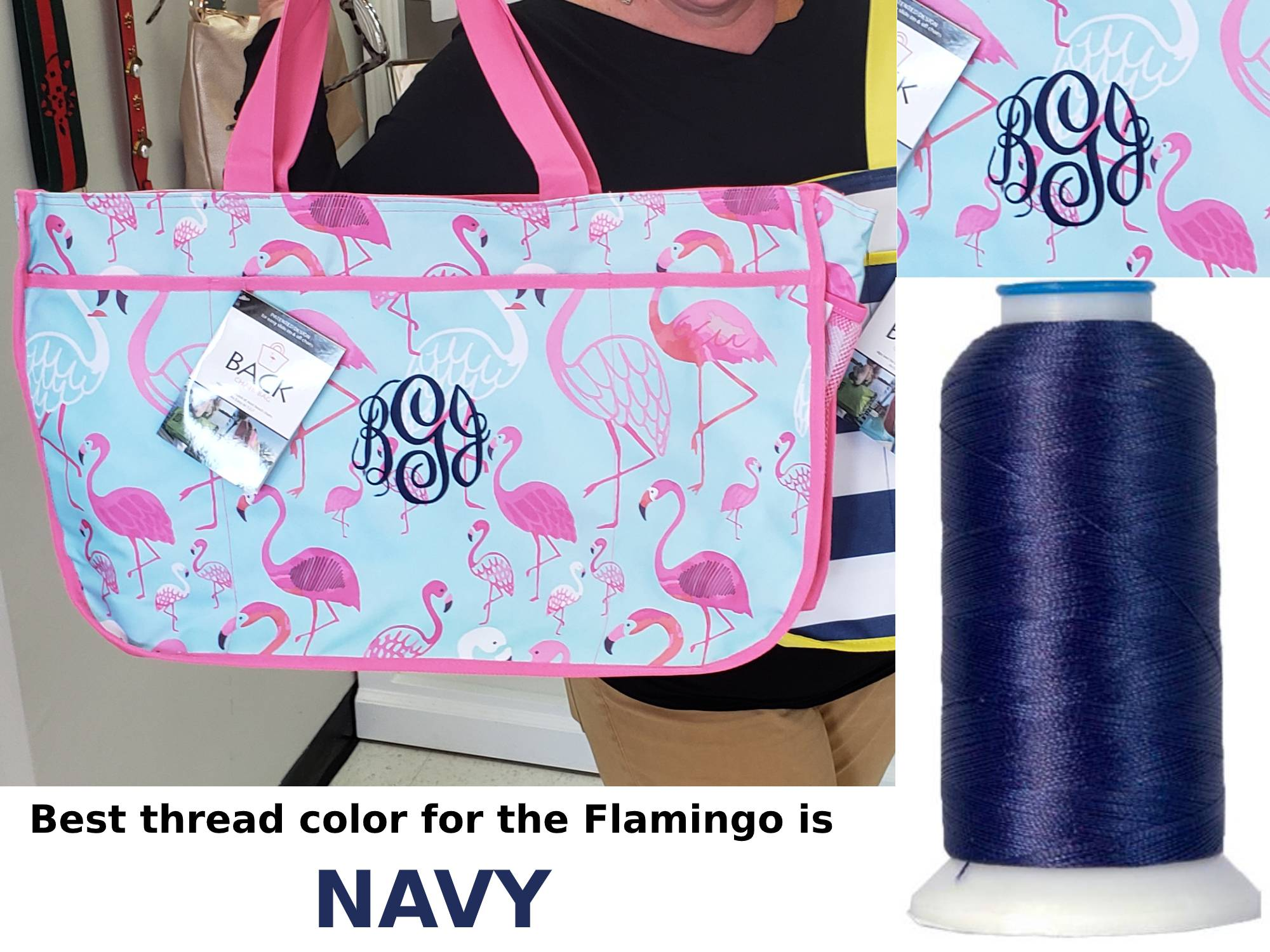 Monogram nautical beach tote bag by back chair bag