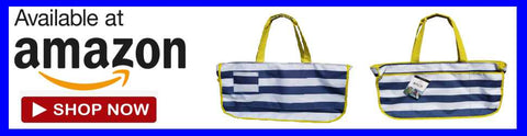 We sell our Nautical beach bag by back chair bag on Amazon