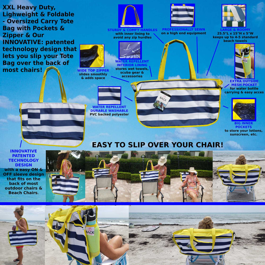back chair bag extra large beach bag by back chair bag