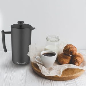 Belwares Stainless Steel Large French Press Coffee Maker w/ Extra Filters