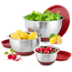 Belwares 3-Piece Stainless Steel Mixing Bowls