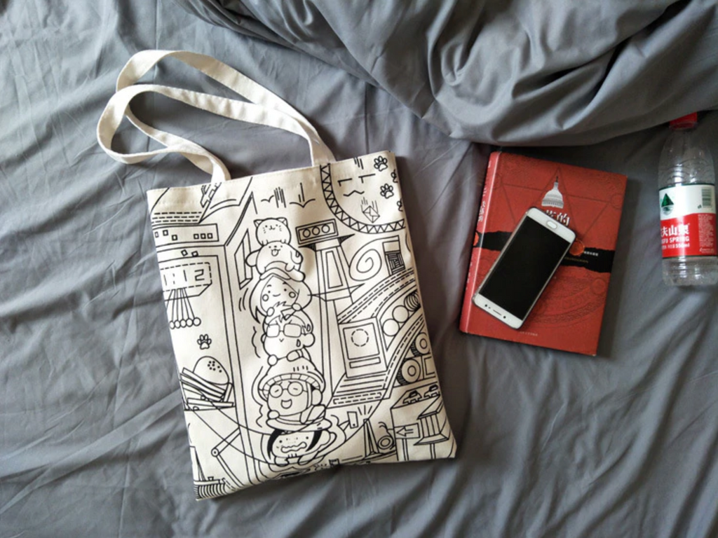 Face Cartoon Tote Bag