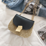 Gold Button Shoulder Bag