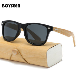 BOYSEEN Retro Wood Sunglasses