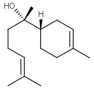 Bisabolol terpene chemical structure