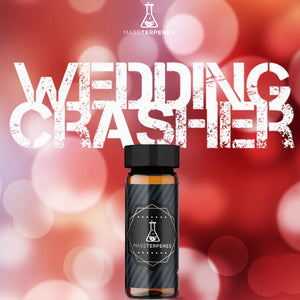 Wedding Crashers strain image red background