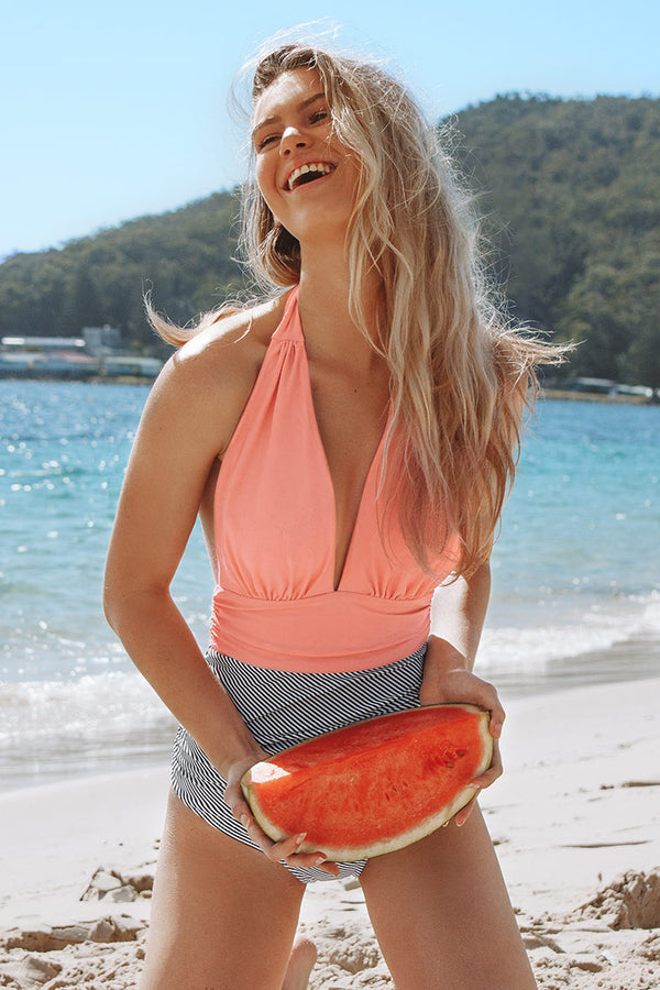 Keeping You Accompanied Peachy One piece Swimsuit