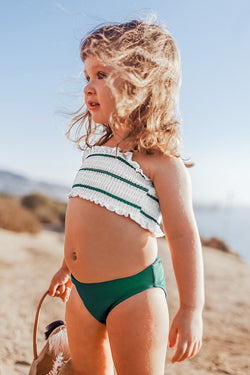 Striped Smocked Bikini For Toddler Girls and Girls