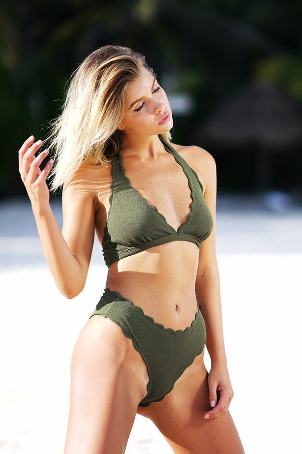 Beatific Life Solid Bikini Set