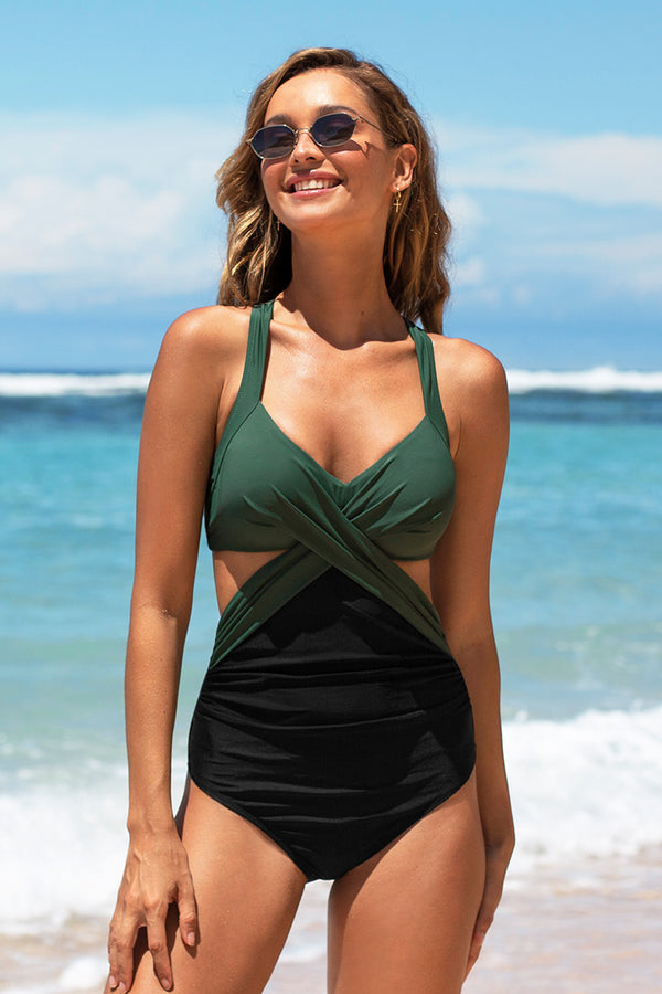 Carly Colorblock One Piece Swimsuit
