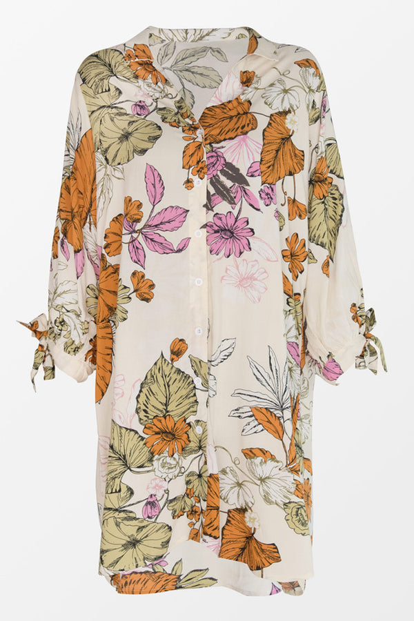 Oaklyn Floral Buttoned Shirt Dress